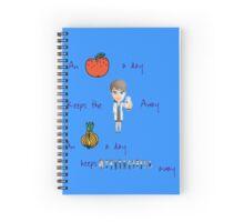 An apple a day keeps the doctor away Spiral Notebook