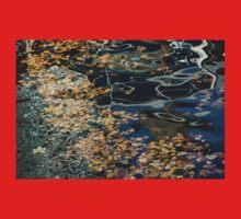Mesmerizing Autumn - Silky Swirls and Fallen Leaves Three One Piece - Short Sleeve