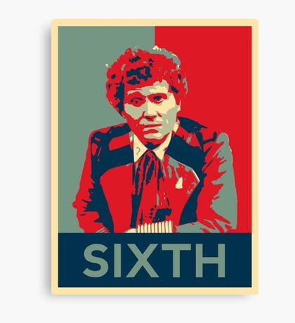 Sixth doctor - Fairey's style Canvas Print