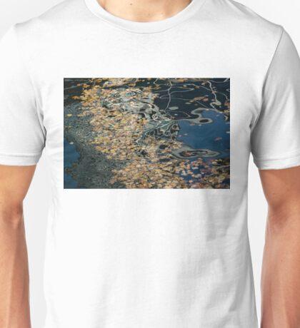 Mesmerizing Autumn - Silky Swirls and Fallen Leaves Five Unisex T-Shirt