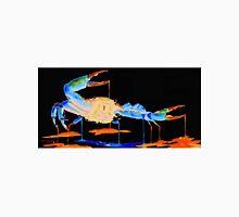 Blue Crab On Black Unisex T-Shirt