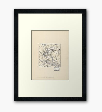 Civil War Maps 2070 Map of the battle field of Gaines's Mill showing approximately the positions of infantry and artillery engaged Framed Print