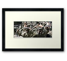 Billy Goes a Bouldering Framed Print