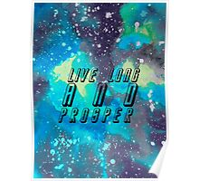 Live Long And Prosper With Background Poster