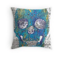 pixilated skull 007 by #RootCat Throw Pillow