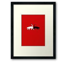 Twain Cats Framed Print