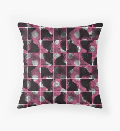 scribble (pink) Throw Pillow