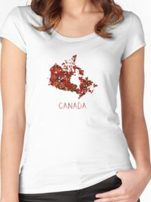 Maple Leafs Map of Canada Women's Fitted Scoop T-Shirt