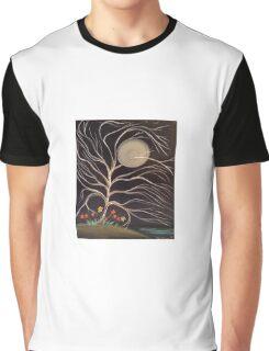 Moonlight Blossoms Graphic T-Shirt