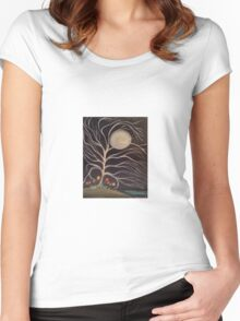 Moonlight Blossoms Women's Fitted Scoop T-Shirt