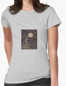 Moonlight Blossoms Womens Fitted T-Shirt