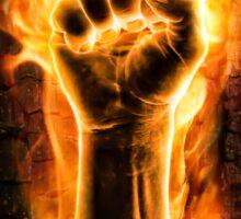 Fist of fire Sticker