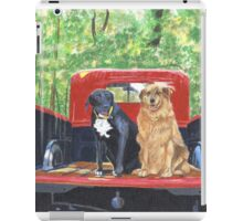 Antique Fire Truck with Dogs iPad Case/Skin