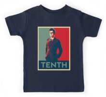 Tenth doctor - Fairey's style Kids Tee