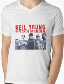 Neil Young promise of the real monsanto Years Rebel Content Mens V-Neck T-Shirt