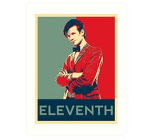 Eleventh doctor - Fairey's style Art Print
