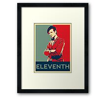Eleventh doctor - Fairey's style Framed Print