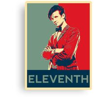 Eleventh doctor - Fairey's style Canvas Print