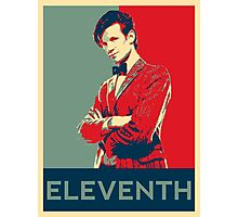 Eleventh doctor - Fairey's style Photographic Print