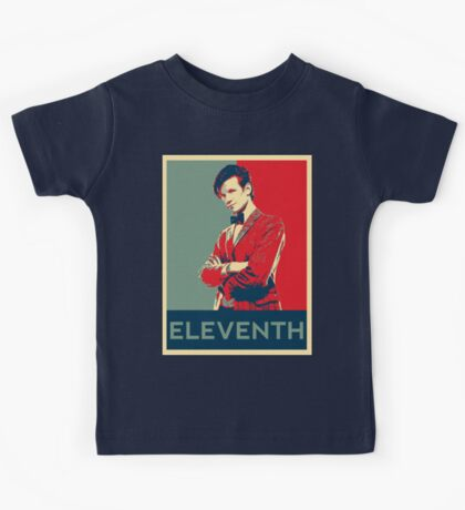 Eleventh doctor - Fairey's style Kids Tee