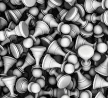 White chess pawns Sticker