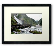 Latefoss waterfall - Norway Framed Print