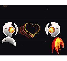 T Omi robot LOVE Photographic Print