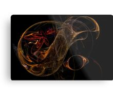 Amber Abstract Metal Print