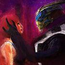 Shepard and Garrus by nero749