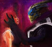 Shepard and Garrus by nero749