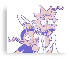 Rick And Morty Slime Alien Purple And Peach Canvas Print