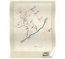 Civil War Maps 2130 Map of the Union troop positions southwest of Marietta Georgia June 10-July 3 1864 Poster