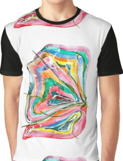 Unknown Butterfly - Small Abstract Landscape, watercolor, ink & pencil on paper Graphic T-Shirt