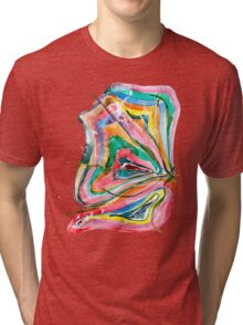Unknown Butterfly - Small Abstract Landscape, watercolor, ink & pencil on paper Tri-blend T-Shirt