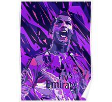 Cristiano Ronaldo Abstract  Poster
