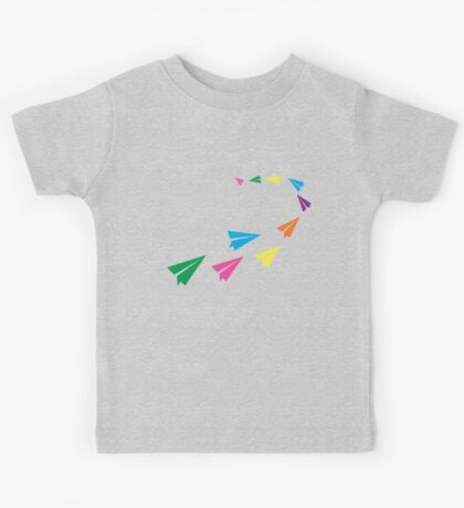 Colourful Paper Plane Kids Tee