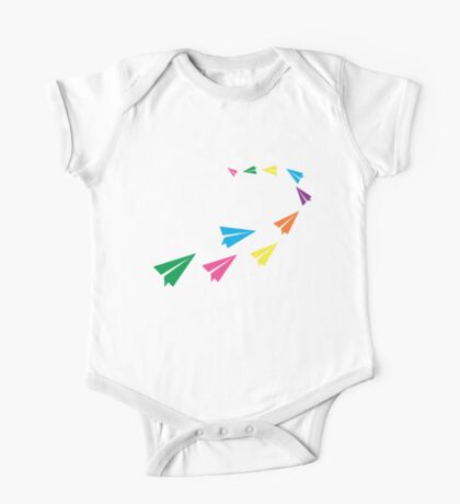 Colourful Paper Plane One Piece - Short Sleeve
