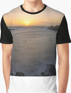 Portpatrick Harbour Sunset Graphic T-Shirt