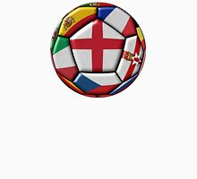 Soccer ball with flag of England in the center Unisex T-Shirt