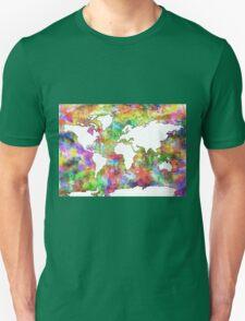 World Map watercolor 6 Unisex T-Shirt