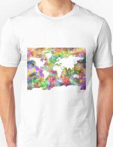 World Map watercolor 6 T-Shirt