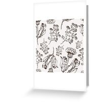 Medicine herb vector seamless nature pattern. Hand drawing sketch illustration Greeting Card