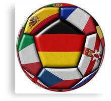 Soccer ball with flag of Germany in the center Canvas Print