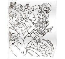 one piece line art  Poster