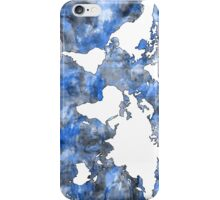 world map watercolor 7 iPhone Case/Skin
