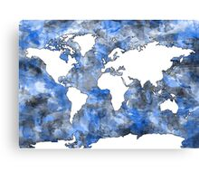 world map watercolor 7 Canvas Print
