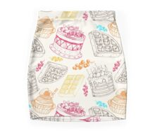 Vectorhand drawing dessert bakery illustration. Sweet food sketch seamless pattern Mini Skirt