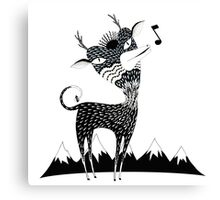 Singing Deer of the Shaggy Mountains Canvas Print