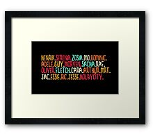 Holby City Characters [2] Framed Print