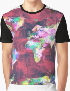 world map watercolor 8 Graphic T-Shirt
